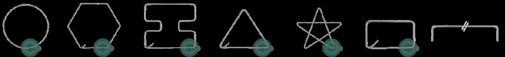 Готовые изделия: кольцо, квадрат, круг, треугольник, звезда и тд